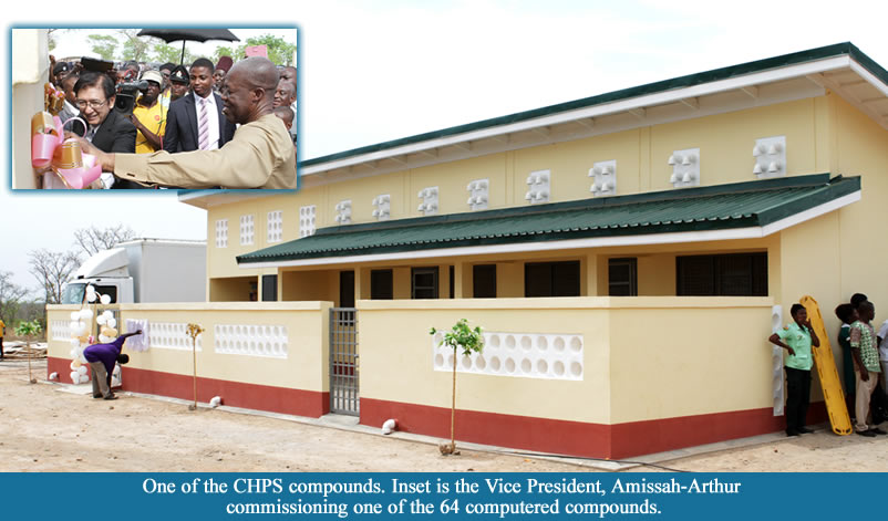 VICE PRESIDENT COMMISSIONS 64 CHPS COMPOUNDS IN THE UWR