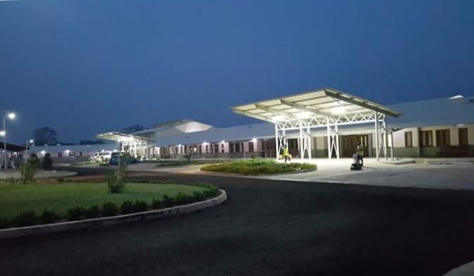 The New Dodowa District Hospital - Night view