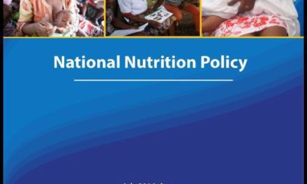 launch of the National Nutrition Policy