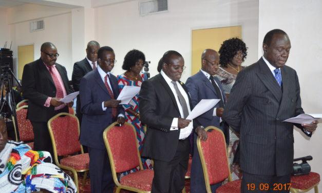 Medical & Dental Council board members taking oath of office