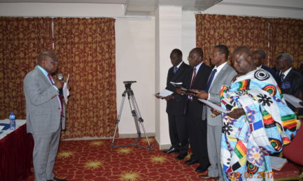 Hon. Kwaku Agyeman-Manu swears in board for Ghana College of Physicians & Surgeons