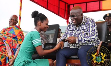 Allowance restored: Trainee Nurses lined up to say 'thank you' to Akufo-Addo