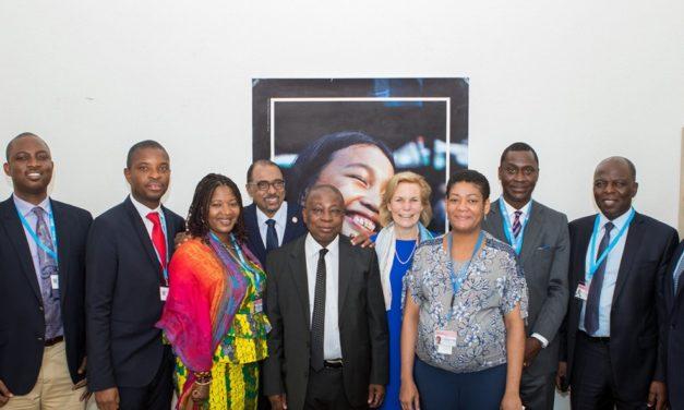 Hon. Kweku Agyeman-Manu pay courtesy call on UNAIDS executive director at the 71st World Health Assembly