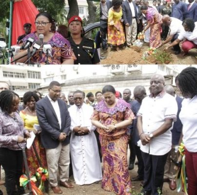 First Lady cuts the sod for Korle-Bu Paediatric Care Unit