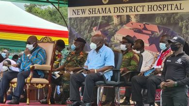 Photo of President cuts sod for construction of Shama District Hospital